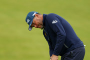 Lee Westwood of England plays a shot during a practice round prior to the 148th Open Championship held on the Dunluce Links at Royal Portrush Golf Club on July 17, 2019 in Portrush, United Kingdom.
