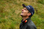 Justin Rose of England l during a practice round prior to the 148th Open Championship held on the Dunluce Links at Royal Portrush Golf Club on July 17, 2019 in Portrush, United Kingdom.