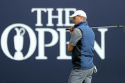 Jordan Spieth of the United States looks on during a practice round prior to the 148th Open Championship held on the Dunluce Links at Royal Portrush Golf Club on July 16, 2019 in Portrush, United Kingdom.