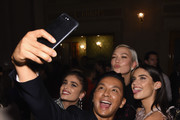 Taylor Hill, Prabal Gurung, Karlie Kloss and Sara Sampaio attend the 14th Annual CFDA/Vogue Fashion Fund Awards at Weylin B. Seymour's on November 6, 2017 in the Brooklyn borough of New York City, New York.
