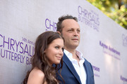 Kyla Weber (L)  and actor Vince Vaughn attend the 14th annual Chrysalis Butterfly Ball sponsored by Audi, Kayne Anderson, Lauren B. Beauty and Z Gallerie on June 6, 2015 in Los Angeles, California.