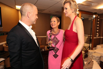 Ryan Murphy Lou Eyrich Green Room at the Costume Designers Guild Awards