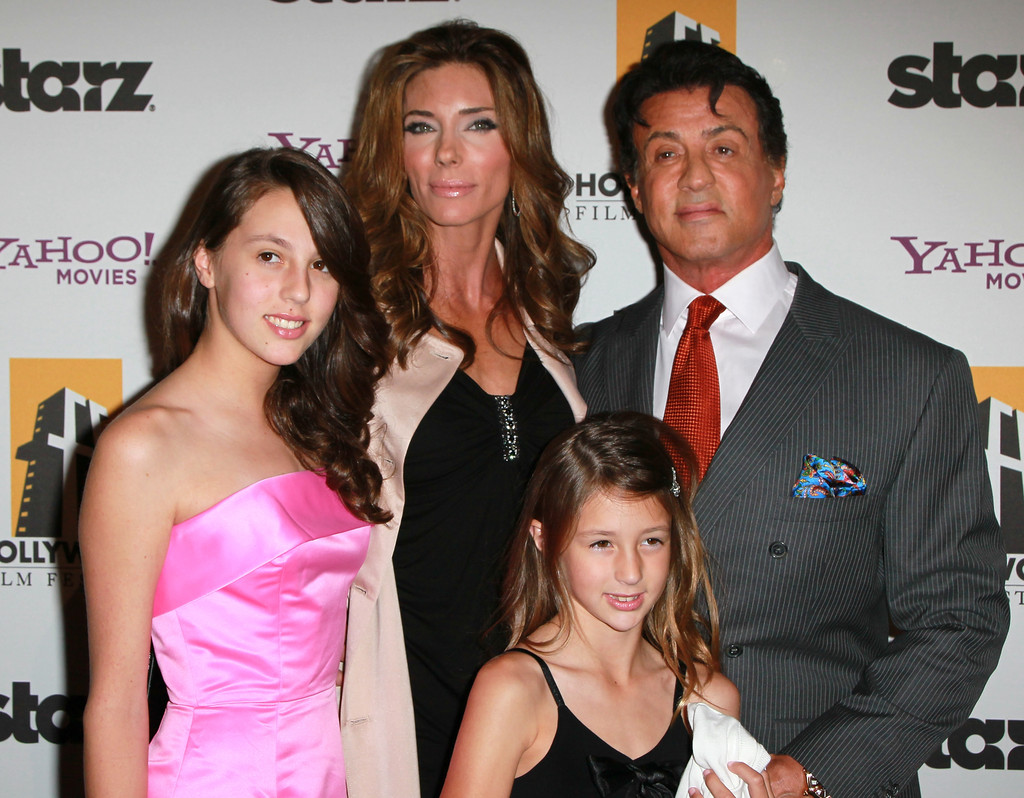 Photo of Sylvester Stallone & his   Sophia Rose Stallone