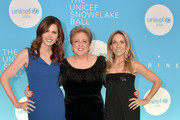 (L-R) Desiree Gruber, Caryl M. Stern, and Sheryl Crow attend the 14th Annual UNICEF Snowflake Ball 2018 on November 27, 2018 in New York City.