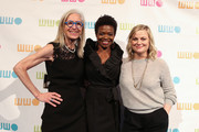 (L-R) Worldwide Orphans Foundation CEO and President Dr. Jane Aronson, LaChanze and Amy Poehler attend the 14th Annual Worldwide Orphans Gala  at Cipriani Wall Street on November 05, 2018 in New York City.