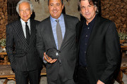 (L-R) Ralph Lauren, Alfredo Paredes and David Rockwell attend DIFFA's 15th annual Dining by Design Dinner gala at Pier 94 on March 26, 2012 in New York City.