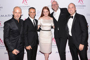 (L-R)  Italo Zucchelli, Francisco Costa, Julianne Moore, Ulrich Grimm, and Frank Zambrelli attend the 16th Annual ACE Awards presented by the Accessories Council at Cipriani 42nd Street on November 5, 2012 in New York City.