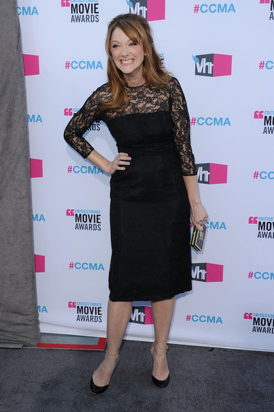 Actress Judy Greer arrives at the 17th Annual Critics' Choice Movie Awards held at The Hollywood Palladium on January 12, 2012 in Los Angeles, California.