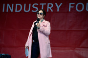 Actress Karen Duffy speaks onstage during the 17th Annual EIF Revlon Run Walk for Women on May 3, 2014 in New York City.