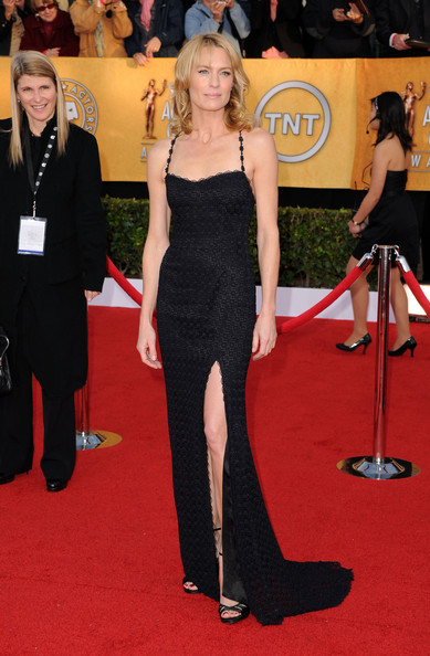 Actress Robin Wright arrives at the 17th Annual Screen Actors Guild Awards held at The Shrine Auditorium on January 30, 2011 in Los Angeles, California.