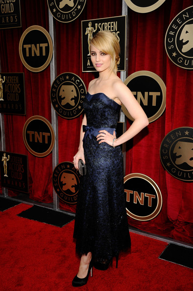 Actress Dianna Agron arrives at the 17th Annual Screen Actors Guild Awards held at The Shrine Auditorium on January 30, 2011 in Los Angeles, California.