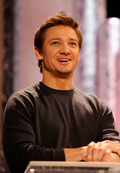 Actor Jeremy Renner speaks onstage during the 17th Annual Screen Actors Guild Awards rehearsals held at The Shrine Auditorium on January 29, 2011 in Los Angeles, California.