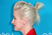 Hair detail of costume designer Trish Summerville during the 17th Costume Designers Guild Awards with presenting sponsor Lacoste at The Beverly Hilton Hotel on February 17, 2015 in Beverly Hills, California.