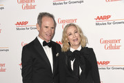 Bo Welch (L) and Catherine O'Hara attend the 18th Annual AARP The Magazine's Movies For Grownups Awards at the Beverly Wilshire Four Seasons Hotel on February 04, 2019 in Beverly Hills, California.