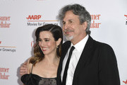 Linda Cardellini (L) and Peter Farrelly attend the 18th Annual AARP The Magazine's Movies For Grownups Awards at the Beverly Wilshire Four Seasons Hotel on February 04, 2019 in Beverly Hills, California.
