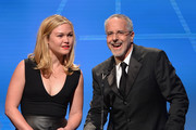 Actress Julia Stiles and director Jon Avnet speak on stage atthe 18th Annual Art Directors Guild Exellence In Production Design Awards at The Beverly Hilton Hotel on February 8, 2014 in Beverly Hills, California.