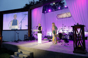 Jill Baldauf and Rebecca Gayheart-Dane speak onstage the 18th annual Chrysalis Butterfly Ball on June 01, 2019 in Brentwood, California.
