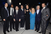 (L-R) Producer Jonathan Gordon, actor Chris Tucker, producer Bruce Cohen, director David O. Russell, actresses Jennifer Lawrence, Jacki Weaver, actors Robert DeNiro and Bradley Cooper attend the 18th Annual Critics' Choice Movie Awards held at Barker Hangar on January 10, 2013 in Santa Monica, California.
