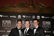 Michael Falzon, Matt Lee and Rob Mills arrive at the 18th Annual Helpmann Awards  at Capitol Theatre on July 16, 2018 in Sydney, Australia.
