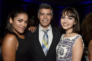 Vivian Lamolli; Esai Morales, Taylor Blackwell attends the 18th Annual Voices Of Our Children Fundraiser Gala And Awards  at Lowes Hollywood Hotel on September 29, 2018 in Hollywood, California.