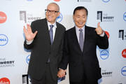 Brad Altman (L) and actor George Takei attend the 18th Annual Webby Awards on May 19, 2014 in New York City.