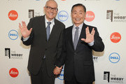Brad Altman(L) and George Takei attend 18th Annual Webby Awards on May 19, 2014 in New York, United States.
