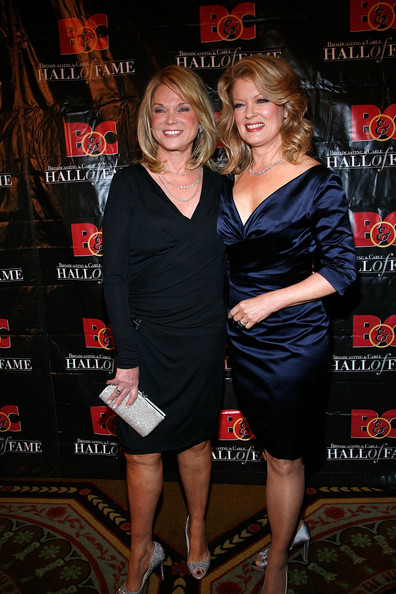"""Mary Hart Linda Bell Blue (L), executive producer of """"Entertainment Tonight,"""