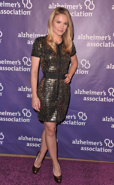 "Actress Kristen Bell arrives to the 19th Annual ""A Night at Sardi's"" benefitting the Alzheimer's Association on March 16, 2011 in Beverly Hills, California."