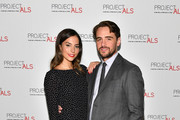 Vincent Piazza (R) and Genesis Rodriguez attend the 19th Annual Project ALS Benefit Gala at Cipriani 42nd Street on October 25, 2017 in New York City.