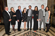 (5th L-R) Vincent Piazza, Genesis Rodriguez, John Sialiano, and guests attend the 19th Annual Project ALS Benefit Gala at Cipriani 42nd Street on October 25, 2017 in New York City.