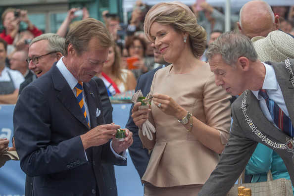 Grand Duke Henri of Luxembourg and Queen Mathilde of Belgium attend celebrations marking the 200th anniversary of the kingdom of The Netherlands on August 30, 2014 in Maastricht, Netherlands.