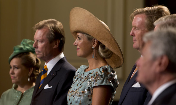 (L-R) Grand Duchess Maria Teresa of Luxembourg, Grand Duke Henri of Luxembourg, Queen Maxima of The Netherlands and King Willem-Alexander of The Netherlands attend celebrations marking the 200th anniversary of the kingdom of The Netherlands on August 30, 2014 in Maastricht, The Netherlands.