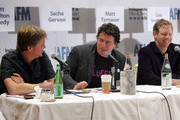 (L-R) Scott Hamilton Kennedy, Sacha Gervasi, and Matt Tyrnauer attend the 2009 American Film Market - Day 5, The DIY Distribution Playbook - What's Working Now, and What's Coming Next at the Le Merigot Hotel on November 8, 2009 in Santa Monica, California.