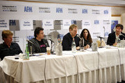(L-R) Scott Hamilton Kennedy, Sacha Gervasi, Matt Tyrnauer, Lisa Smithline, and Adam Chapnick attend the 2009 American Film Market - Day 5, The DIY Distribution Playbook - What's Working Now, and What's Coming Next at the Le Merigot Hotel on November 8, 2009 in Santa Monica, California.