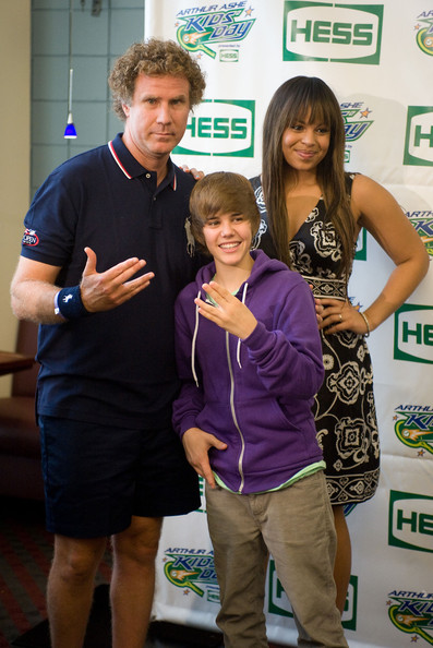 Will Ferrell, Justin Bieber, and Jordin Sparks attends the 2009 Arthur Ashe Kids Day at the USTA Billie Jean King National Tennis Center on August 29, 2009 in Corona, New York.