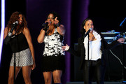 Sandy Denton, Spinderella and Cheryl James of Salt N' Pepa preform during the 2009 Essence Music Festival at the Louisiana Superdome on July 3, 2009 in New Orleans.