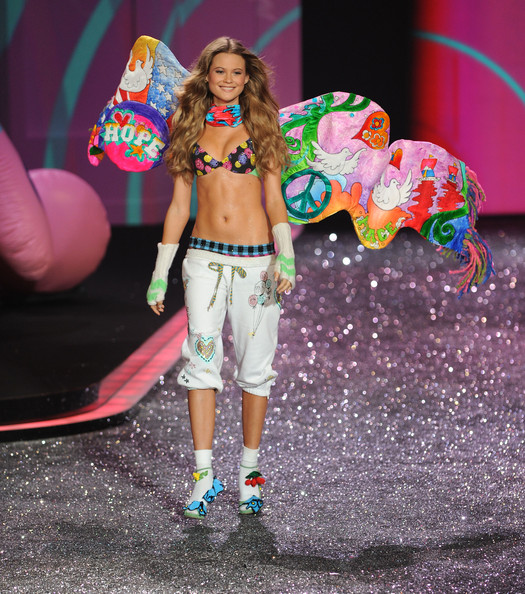 Model Behati Prinsloo attends the Victoria's Secret fashion show at The Armory on November 19, 2009 in New York City.