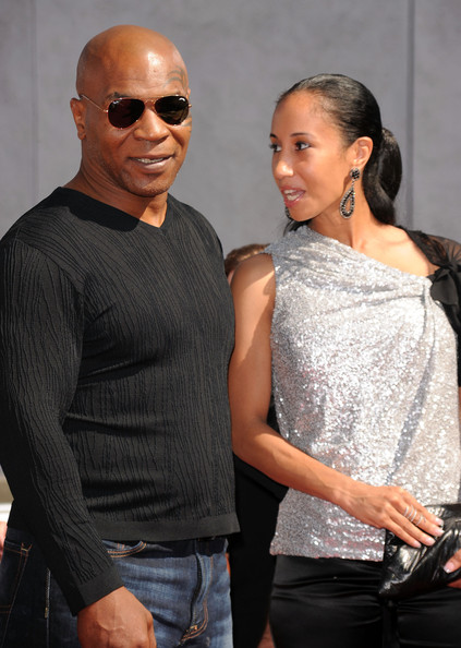 Mike Tyson Mike Tyson (L) and wife Lakiha Spicer arrive at the 2010 MTV