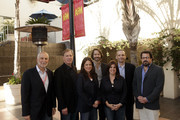 (L-R) William Stuart, Producer, Aurora Productions, International Committee Co-Chair, PGA, Larry Kopeikin, Attorney, Morris Yorn Barnes & Levine, P.C., Cathy Schulman, President, Mandalay Pictures, Bill Johnson, Partner Inferno Entertainment, Stacey Parks, President, Film Specific, Paul Green, President, Anonymous Content, and Richard Gladstein, President, FilmColony attend 2010 American Film Market - Day 7 - New Strategies on How To Package and Finance Your Independent Project Overseas at Le Merigot Hotel on November 9, 2010 in Santa Monica, CA.