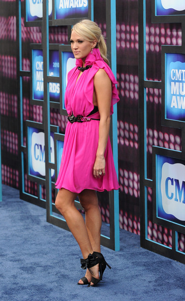 Carrie Underwood Singer Carrie Underwood attends the 2010 CMT Music Awards at the Bridgestone Arena on June 9, 2010 in Nashville, Tennessee.