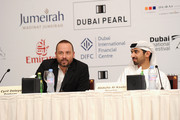 """Producer Cyril Deleye and director Abdulla Al Kaabi attend """"The Philosopher"""" press conference during day six of the 7th Annual Dubai International Film Festival held at the Madinat Jumeriah Complex on December 17, 2010 in Dubai, United Arab Emirates."""