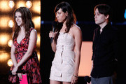 (L-R) Anna Kendrick, Aubrey Plaza and Kieran Culkin present the WTF award onstage at the 2010 MTV Movie Awards held at the Gibson Amphitheatre at Universal Studios  on June 6, 2010 in Universal City, California.