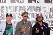Musicians Chad Hugo, Pharrell Williams and Shay Haley of N.E.R.D. arrive at the 2010 MTV Video Music Awards at NOKIA Theatre L.A. LIVE on September 12, 2010 in Los Angeles, California.