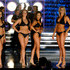 Katherine Putnam Nicole Pollard Photos - (L-R) Katherine Putnam, Miss Louisiana, Raeceen Anuenue Woolford, Miss Hawaii, Nicole Pollard, Miss Indiana, Kristy Cavinder, Miss California, Katie Lucille Layman, Miss Colorado, and Stefanie Wittler, Miss Tennessee, wait to see who will advance after competing in the swimsuit competition during the 2010 Miss America Pageant at the Planet Hollywood Resort & Casino January 30, 2010 in Las Vegas, Nevada. - 2010 Miss America Pageant