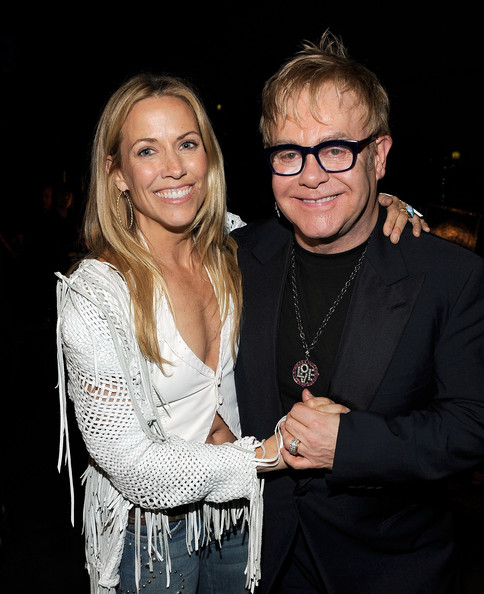 Musicians Sheryl Crow and Elton John attend the  2010 MusiCares Person Of The Year Tribute To Neil Young at the Los  Angeles Convention Center on January 29, 2010 in Los Angeles,  California