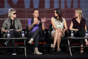"""TV personalities Mikey Koffman, Whitney Mixter, Tracy Ryerson and Nikki Weiss speak onstage during """"The Real L Word"""" panel during the 2010 Summer TCA Tour Day 2 at the Beverly Hilton Hotel  on July 29, 2010 in Beverly Hills, California."""