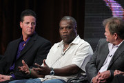 Cast members James Malinchak, Tony Branch and Gary Heavin  speak onstage during the 'Secret Millioniare' panel during the summer Television Critics Association press tour on August 1, 2010 in Beverly Hills, California.