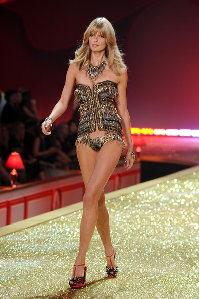 Model Julia Stegner walks the runway during the 2010 Victoria's Secret Fashion Show at the Lexington Avenue Armory on November 10, 2010 in New York City.