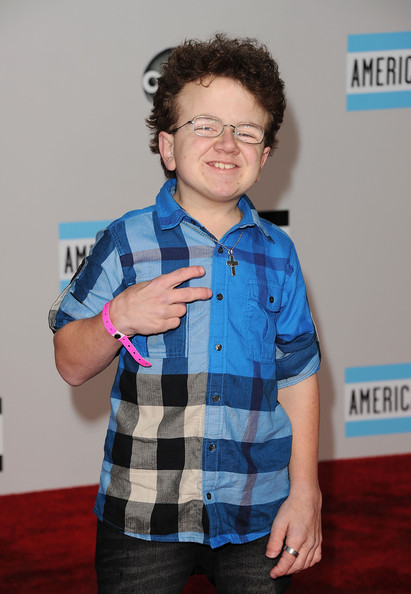 Keenan Cahill arrives at the 2011 American Music Awards held at Nokia Theatre L.A. LIVE on November 20, 2011 in Los Angeles, California.