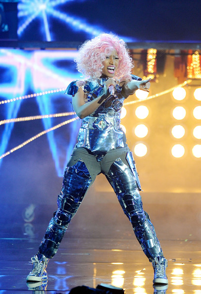 Singer Nicki Minaj performs onstage at the 2011 American Music Awards held at Nokia Theatre L.A. LIVE on November 20, 2011 in Los Angeles, California.